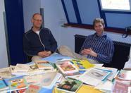 Sander van Nunen and Sander Zuidema behind the MRC stand