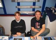 Rieks and René selling Sargon translations