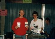 MSX Club West Friesland - Bas Kornalijnslijper on the right