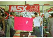 MSX Club Gouda selling hardware, software and giving away free candy!