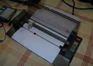 The plotter in action