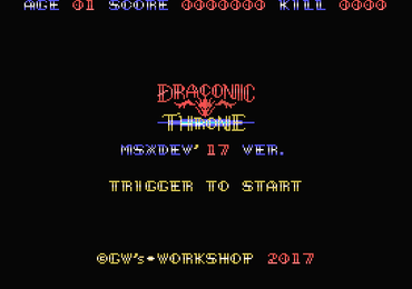 MSXdev'17 #8 - Draconic Throne