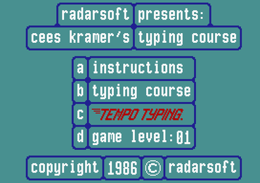 Tempo Typen - English & bonus MSX themed version