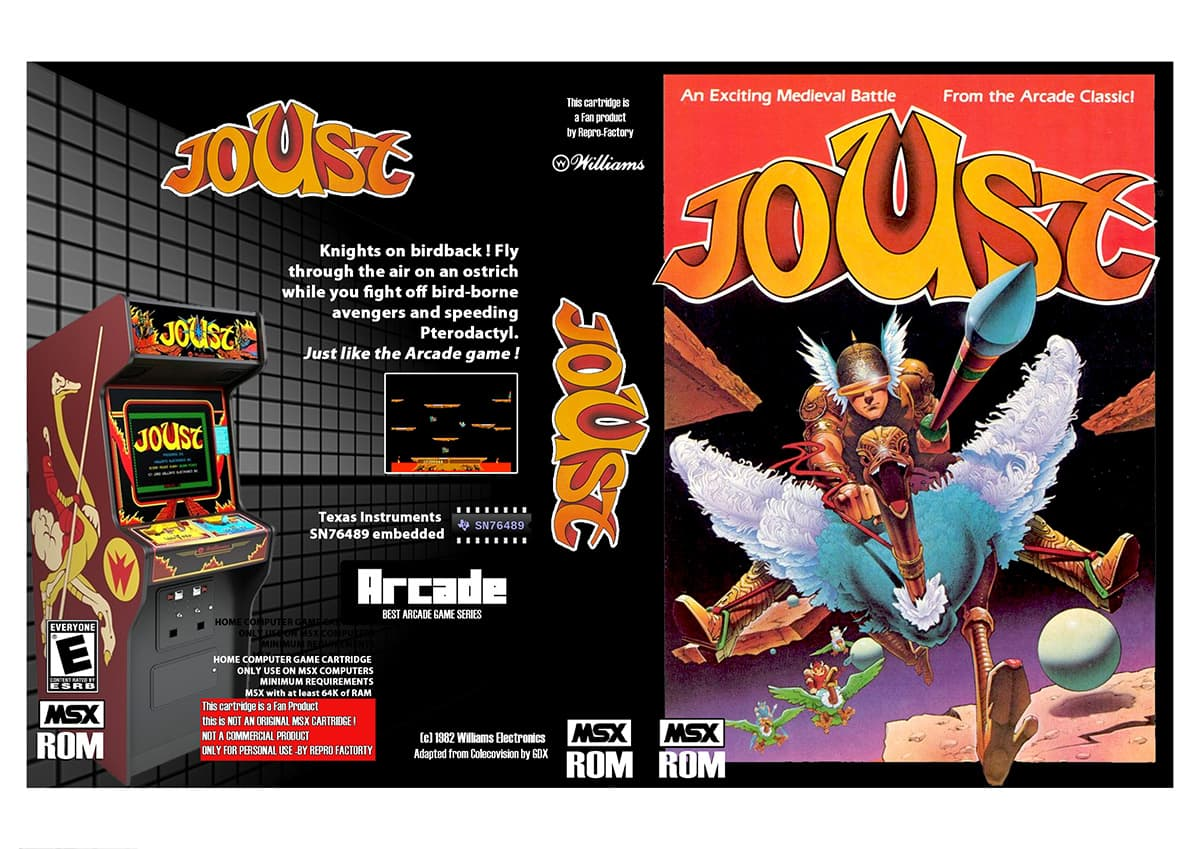 Joust - The Arcade Game for MSX | MSX Resource Center