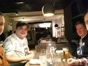 Arno, Onno, bas & Mika in a Finnish restaurant