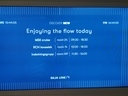 Information screen on the boat