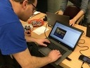 Manuel testing something on openMSX? at Nijmegen 2018 - 022